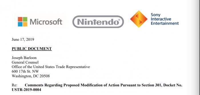 微软、任天堂、索尼罕见联合声明:对中国加征关税会让很多美国家庭买不起新游戏机!