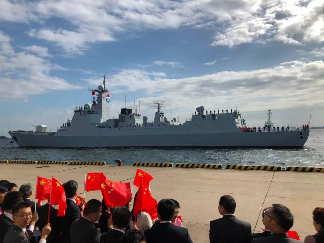 首次!中国海军舰艇抵日参加海上阅舰式