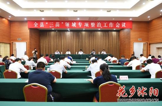 """沭阳县部署开展""""三苗""""领域专项整治工作"""