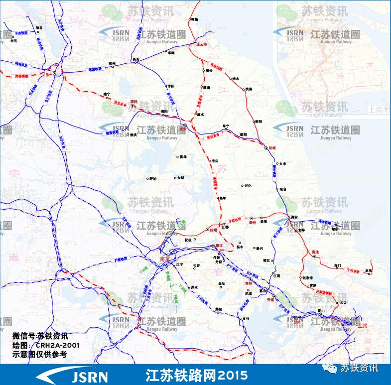 2020年底江苏铁路网