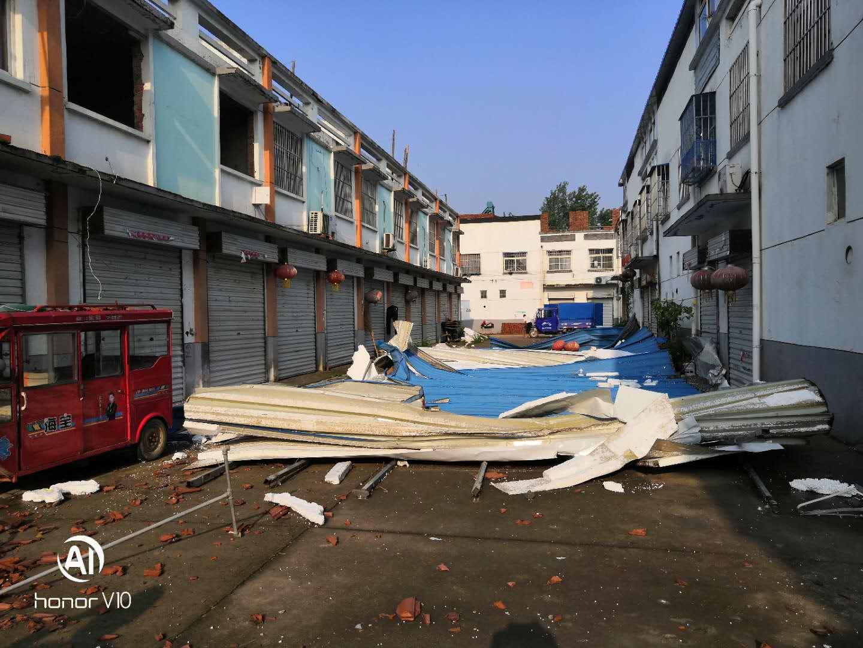 关于沭阳县小穆庄商城违章建筑砸人出现生命危险的问题
