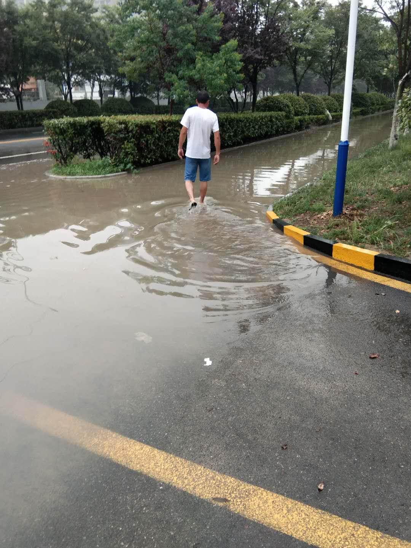 富园景都东门,水漫金山,严重影响道路交通安全。